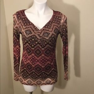 ♥️3for$25♥️ AXCESS longsleeve v-neck top size M
